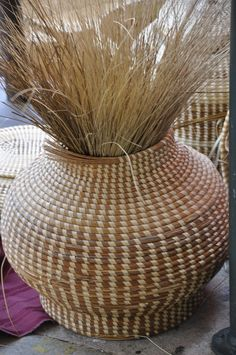 sweetgrass baskets   Very expensive