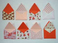12 handmade Valentines Love Letters card toppers - pre assembled ready to use on Etsy, £3.25