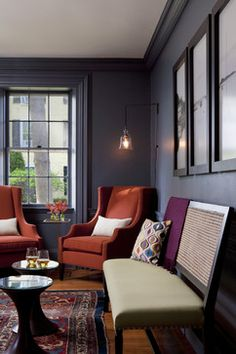 Captain Faifield Inn - Lounge - modern - entry - boston - Rachel Reider Interiors