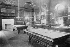 I heart History! The Palace Hotel, San Francisco - Billiard Room in 1887