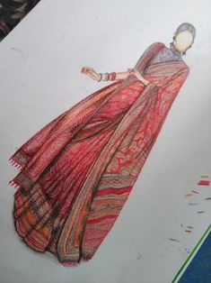 Fashion Drawing Dresses, Fashion Illustration Dresses, Fashion Illustrations, Fashion Dresses, Fashion Design Drawings, Fashion Sketches, Art Sketches, Blouse Designs High Neck, Dress Designs