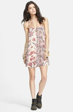 Free People Strap Back Mixed Print Romper available at #Nordstrom