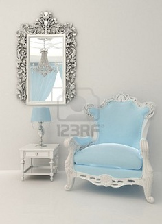 Baroque furniture in luxury interior Stock Photo