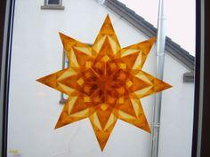 transparentstern 1 Origami, Advent, Tutorials, Windows, Stars, Paper, Christmas, Deco, Crafting