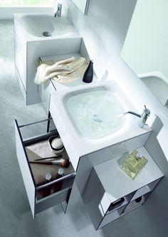 Sense Bathroom Furniture Collection Integrated Washbasin In Fenix Ntm Color Nero Ingo