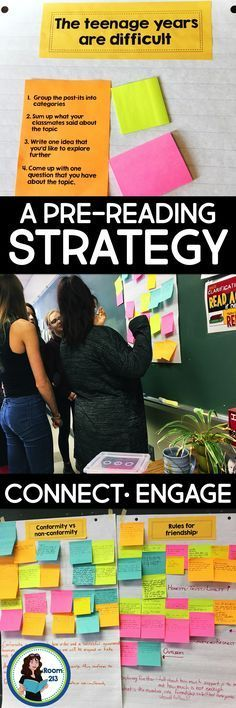 Middle and high school English teachers: use this pre-reading strategy to activate your students' prior knowledge so they can use it to understand character and theme as they read. Read all about it in the latest post by Room 213.