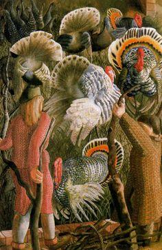 Stanley Spencer (English, 1891 - 1959) Turkeys, 1946
