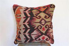 Handvowen Kilim Pillow Anatolian Wool Pillows Throw by SeCLara