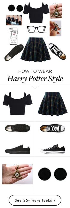 """For all nerds(BRUH.. No nerd emoji)"" by dancedollkk on Polyvore featuring Chicwish, Spitfire, AeraVida and Converse"
