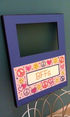 """The perfect gift for your BFF: Paperly's """"Peace Love Happiness"""" picture frame. Now the hard part... deciding what picture of the 2 of you to put in it."""