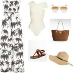 Very classy beach wear.knowing u look great