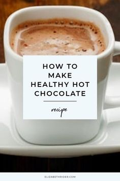 Here is How To Make Healthy Hot Chocolate. This is a perfect healthy drink for fall, Christmas, and a makes a lovely winter drink. healthy drinks How To Make Healthy Hot Chocolate Healthy Hot Chocolate, Hot Chocolate Recipes, Chocolate Chocolate, Hot Chocolate Cocoa Powder, Hot Chocolate With Almond Milk, Vegan Hot Cocoa Recipe, Hot Chocolate Latte, Sugar Free Hot Chocolate, Christmas Hot Chocolate
