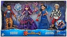 Disney Descendants 2 Dolls Isle of the Lost 4 Pack Mal, Evie, Carlos, Jay (Exclusive) * Check out the image by visiting the link. (This is an affiliate link) American Girl Doll Movies, Birthday Animated Gif, Pixar, Disney Descendants Dolls, Disney Barbie Dolls, Isle Of The Lost, Mal And Evie, Pocket Princesses, Film Disney