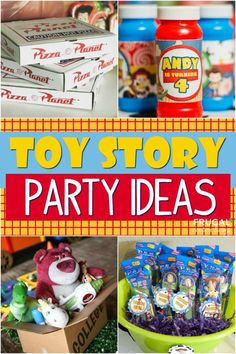 Toy Story Party Ideas Have a Buzz and Woody fan at home? These Toy Story Party Ideas, birthday decorations, easy recipes and more create the most memorable celebration! Fête Toy Story, Toy Story Crafts, Toy Story Theme, Toy Story Birthday, Toy Story Party, Toy Story Food, Fourth Birthday, 4th Birthday Parties, Birthday Party Decorations