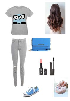 """""""Owls+Donuts: Two of my Fave Things"""" by caught-in-a-dream-xo ❤ liked on Polyvore featuring J Brand, Converse, Michael Kors, Laura Mercier, women's clothing, women, female, woman, misses and juniors"""