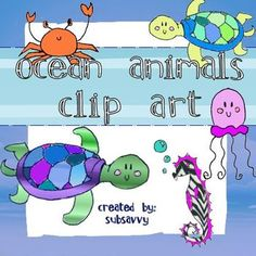 30 Ocean critters in a variety of different color combinations!!! These ocean animals are perfect for your TpT projects!   I drew this clip art myself so your product will be unique because you won't see this clip art anywhere else! :)  Feel free to use them in any project, just please provide a link to my store somewhere in your product, it can be on the last page.  Can be used for commercial and personal use.   Enjoy and happy creating!