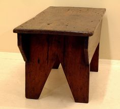 Antique Country Pine Kitchen Farm Bench seat
