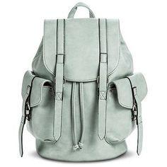 Women's Solid Cargo Backpack Handbag - Mint