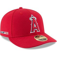 uk availability 9b4b5 ce5bc Men s New Era Red Los Angeles Angels MLB 150th Anniversary Authentic  Collection Low Profile 59FIFTY Fitted Hat