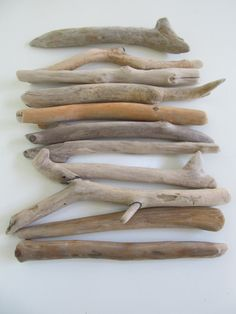 "DRIFTWOOD OFFER. Quality Driftwood Pieces - 8""- 9"" Driftwood Branches - DIY Driftwood Lamp - 11 Drift Wood Crafting Rods by LonelyBeach on Etsy"