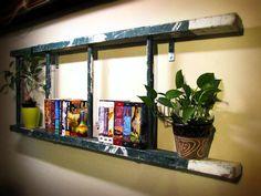 Green Antique Ladder Bookshelf  4 Rungs by naturallycre8tive, $120.00