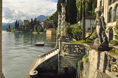 Villa Monastero, Varenna on Lake Como. Its name derives from the original function which was a Cistercian Convent dedicated to St Mary Magadalen Oh The Places You'll Go, Places To Travel, Places To Visit, Lac Como, Siena Toscana, Varenna Lake Como, Grands Lacs, Comer See, Lake Como Italy
