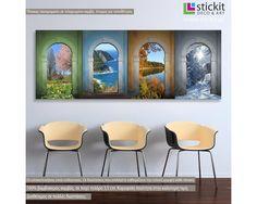 4 εποχές, πανοραμικός πίνακας σε καμβά Δειτε το! Painting, Art, Art Background, Painting Art, Kunst, Paintings, Performing Arts, Painted Canvas, Drawings