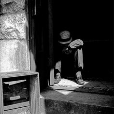 Vivian Maier - Maxwell St., Chicago (Man in Doorway), September 3, 1967, Silver gelatin #vivian #maier