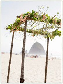 Surfsand Resort offers barefoot weddings on a sunset beach, to elegant catered affairs. Beach wedding arbor