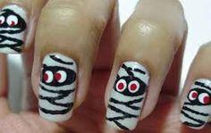 Resultado de imagen para como disfrazar uñas para dia de muertos
