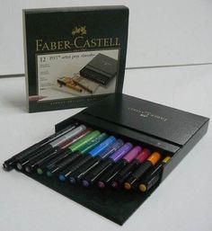 12 Marcadores Faber Castell Pitt Artist Pen Brush