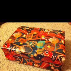 One of my favorite ways to wrap gifts: Cover a the lid & base of a shoebox w/wrapping paper, place a bow on it & voila! The recipient can reuse the box, too!