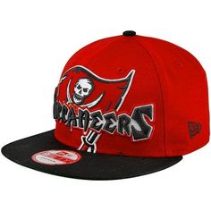 bea3753ff58 New Era Tampa Bay Buccaneers Squared Up 9FIFTY Snapback Hat - Red Black by  New