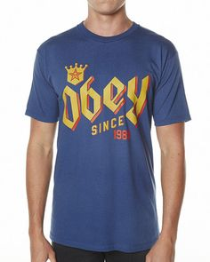 SURFSTITCH - MENS - BOUTIQUE COLLECTION - TEES - OBEY BAR KING TEE - PATROL BLUE