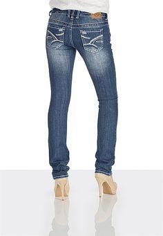 Maurices Vintage destructed contrast stitch jeans - maurices.com