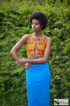 Ohemaa Collection by N'kya . ~African fashion, Ankara, kitenge, African women dresses, African prints, Braids, Nigerian wedding, Ghanaian fashion, African wedding ~DKK