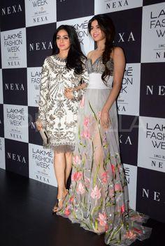 Divas Karisma Kapoor and Sridevi attend Manish Malhotra's show at the Lakme Fashion Week | PINKVILLA