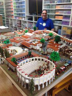 Gli Scavi di Pompei ricostruiti in Australia utilizzando i mattoncini Lego.
