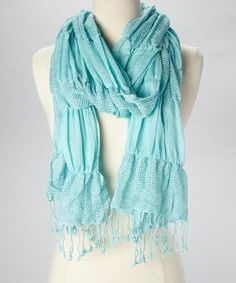 Add+a+bit+of+posh+playfulness+to+any+look+with+this+unique+bubbly+scarf.+Delightfully+lightweight+and+boldly+colored,+this+whimsical+addition+is+sure+to+make+any+look+pop.
