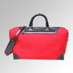 """An ideal international carry on but also perfectly sized for a weekend away or a trip to the gym. There is a roomy main compartment with an interior zippered compartment.  There is an exterior zippered compartment for a tablet, travel wallet or other small items. Removable, adjustable shoulder strap. 18"""" x 12"""" x 9"""""""