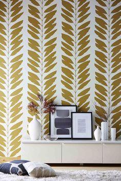 All over trailing foliage wallpaper design called Malv by Scion.