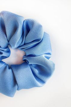 "Bluebelle Scrunchie  Handmade Item  This listing is for one scrunchie.  Receive a discount when you order 3 Scrunchies! Use the code ""SETOF3"" at checkout.  Every scrunchie is handmade by us in Alberta, Canada. These can be wrapped around your hair once, or multiple times depending on the thickness of your hair. Birthday Party Favors, Birthday Parties, Handmade Accessories, Handmade Items, Bridal Shower Favours, Alberta Canada, Scrunchies, Really Cool Stuff, Your Hair"