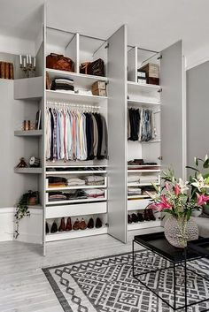 The perfect wardrobe. OK, for a man, but you get the idea. Love the angled…