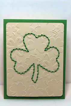 whats next ma: Stitched Cards ~ Happy St. Patrick's Day!