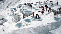 The Pamukkale tour includes visits of the 8th world wonders - Pamukkale with its ancient city of Hierapolis and water travertines with the professional tour guide. Exploring it with Tourboks.