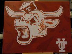 UT Longhorns painting