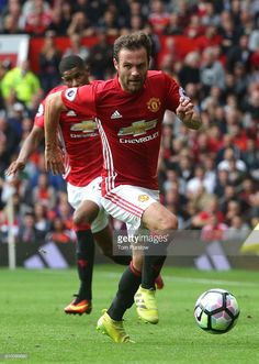 Juan Mata of Manchester United in action during the Premier League match between Manchester United and Leicester City at Old Trafford on September 24, 2016 in Manchester, England.