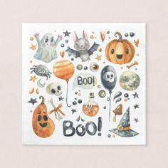 Spooktacular Halloween Party | Cocktail Napkin - halloween decor diy cyo personalize unique party