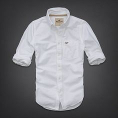 NWT HOLLISTER Abercrombie Mens Long Sleeve Button Shirt Striped S, M