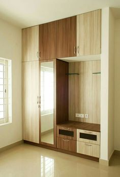 46 Ideas for modular furniture design inspiration Wardrobe Laminate Design, Wall Wardrobe Design, Wardrobe Interior Design, Wardrobe Door Designs, Bedroom Closet Design, Bedroom Furniture Design, Home Room Design, Closet Designs, Bedroom Storage